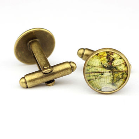 Around the World Resin Cufflinks
