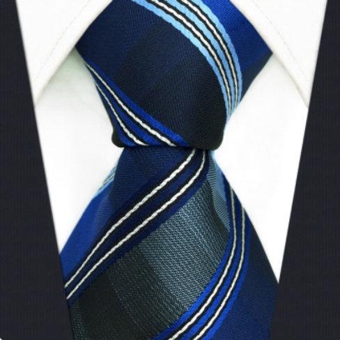 Navy/Blue Square Stripes