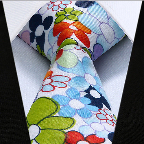 Retro Floral Cotton Tie Set