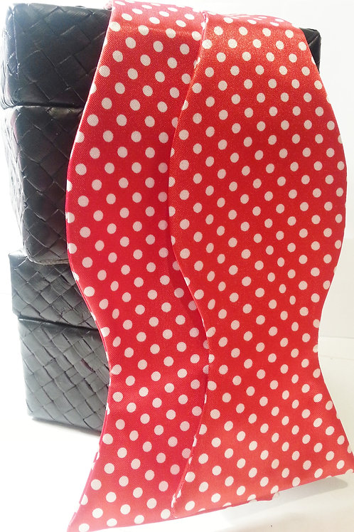 Red/White Small Polka Dot Bow Tie
