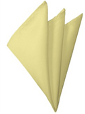 Light Yellow Pocket Square