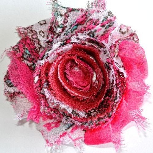 Pink Floral Lapel Pin