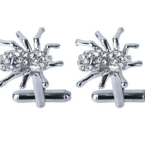 Crystal Spider Cufflinks