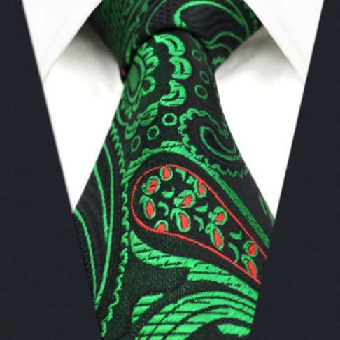 Green/Red/Black Paisley