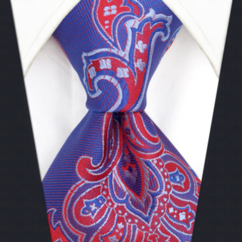 Bright Blue/Red Perfect Paisley