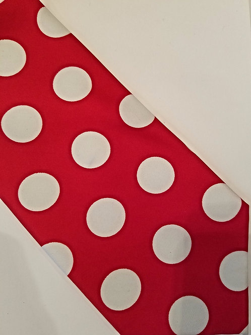 SALE Large Red Polka Dots