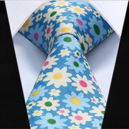 "Blue ""All Fun"" Floral Cotton w/Hanky"