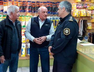 Flamante Jefe de la Policía de Buenos Aires, recorrió las calles de Lomas de Zamora