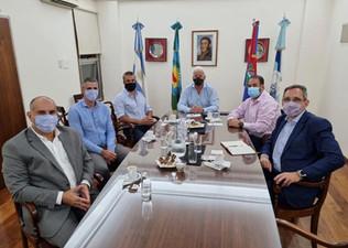 El jefe de Gabinete del Municipio y representantes del Banco Santander Río visitaron la Cámara