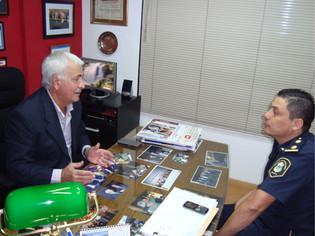 Visitó la entidad el jefe  de la Delegación de la Policía Federal