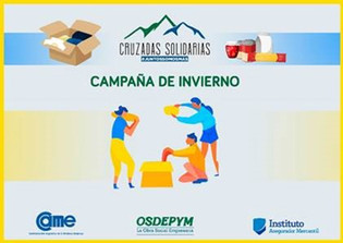 """Programa """"Cruzadas Solidarias"""". Campaña de invierno"""
