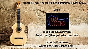 guitar vouchers 15 45 min guitar lessons