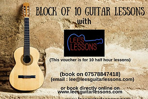 Guitar Lessons Gift Vouchers