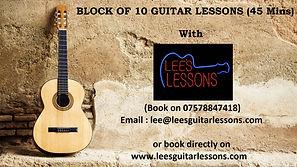 guitar vouchers 10 45 MINS GUITAR LESSON