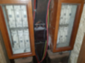 Photo of aincent fuse box with fused neutrals