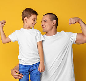 bigstock-Dad-and-his-son-showing-muscle-