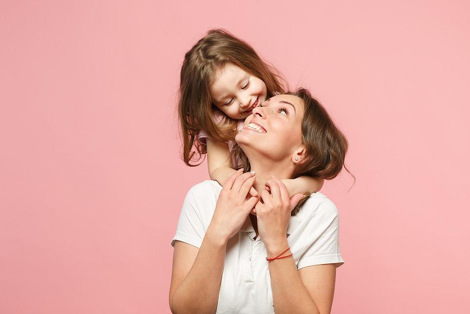 Mom daughter pink