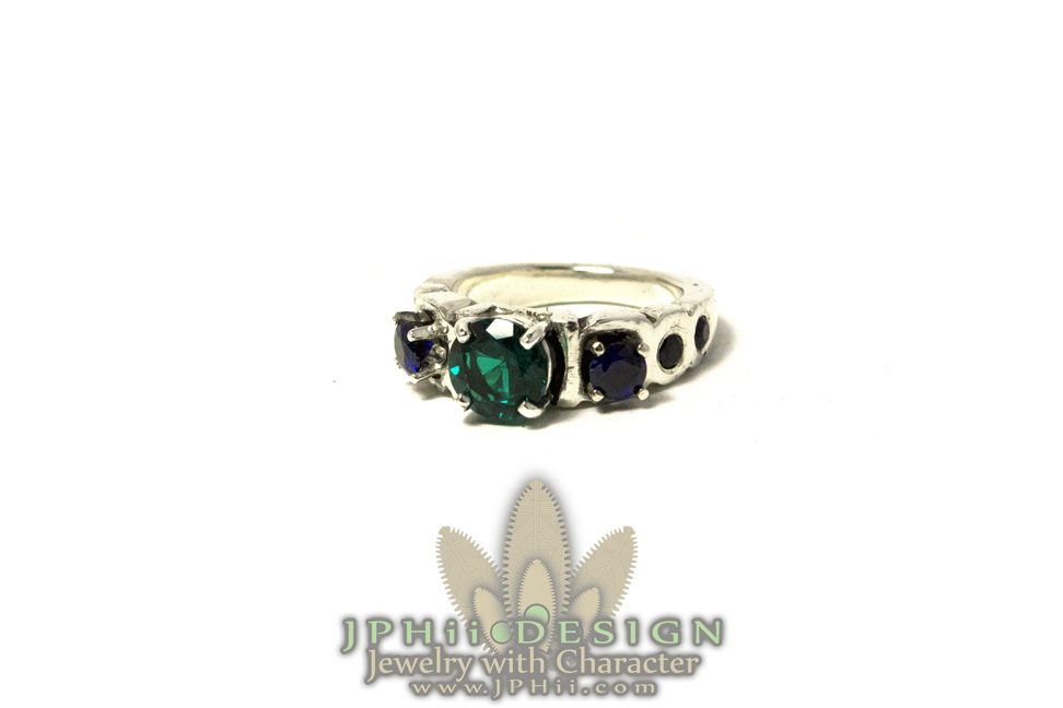 Stoned Engagement Ring