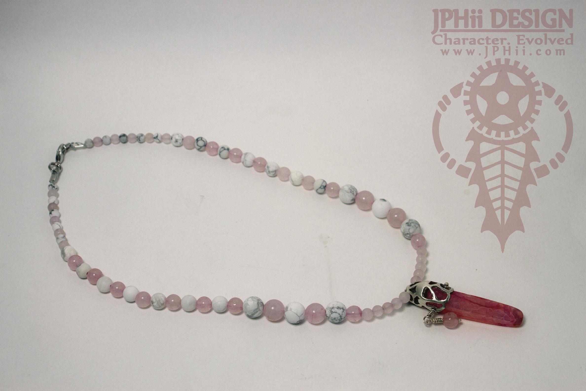 Pink Serpula Necklace