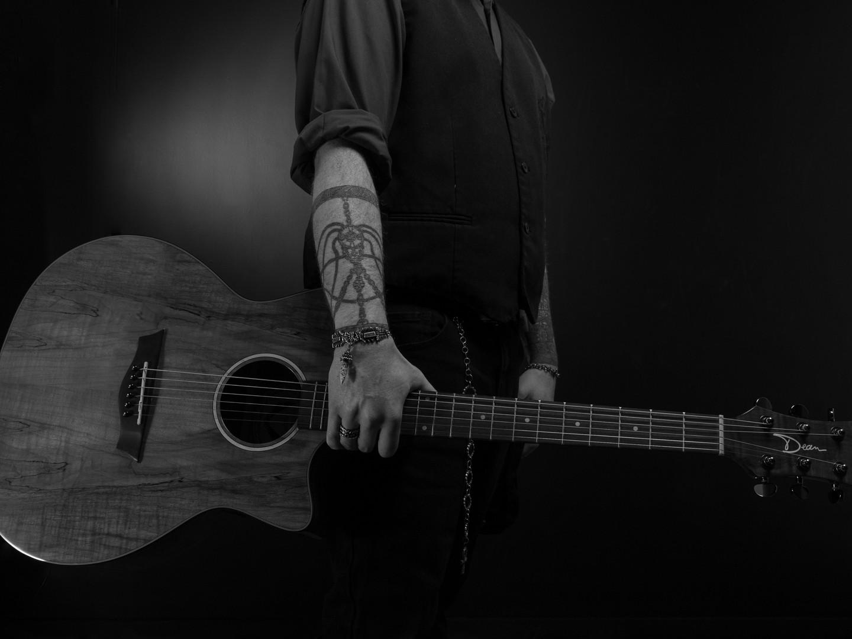 John Harris and his Dean guitar