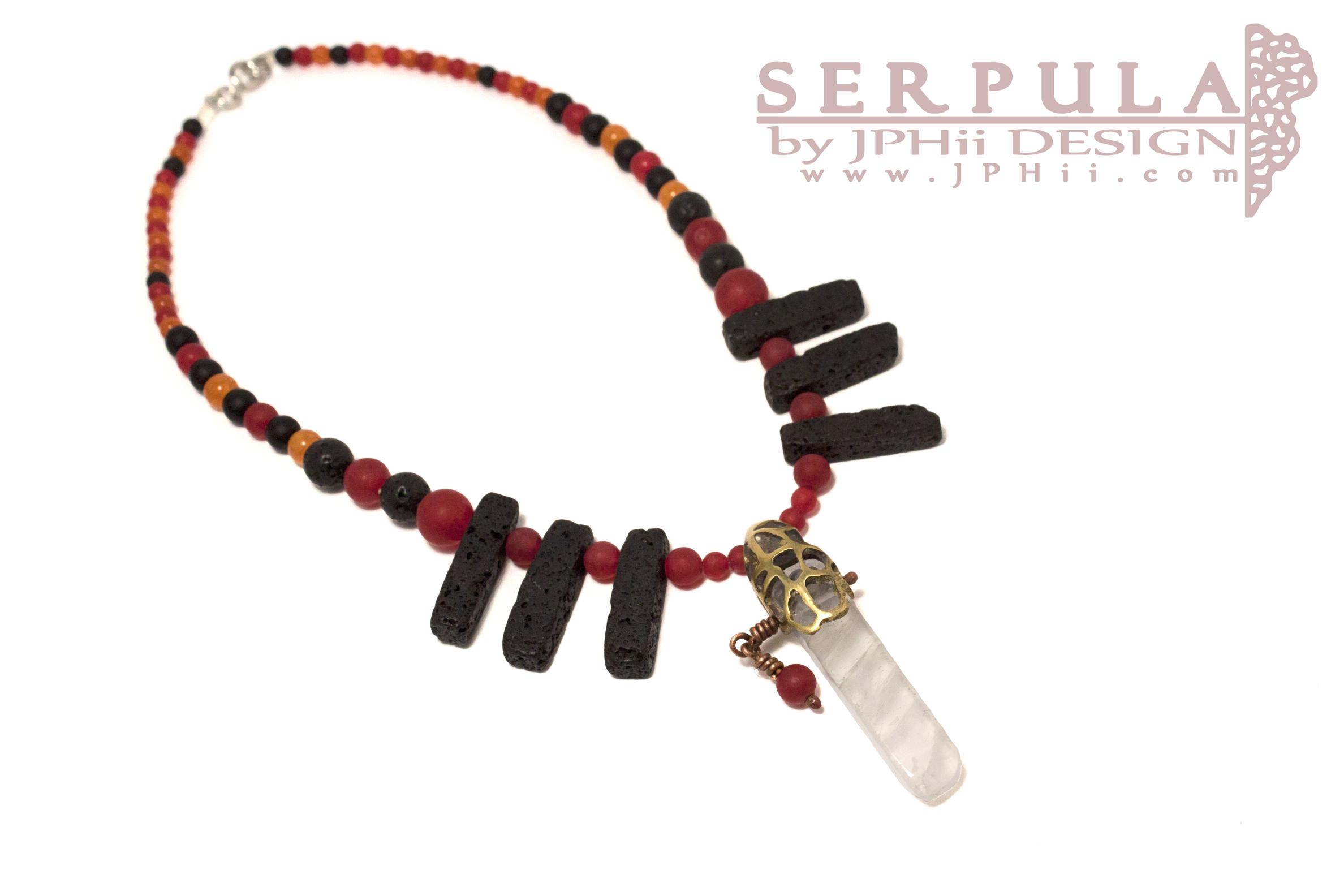 Red Quartz Serpula Necklace