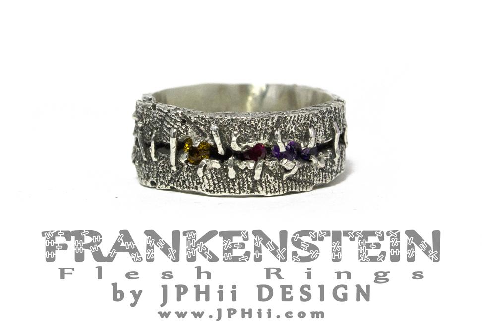 Gemmed Flesh Ring