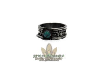 Turquoise Log Ring