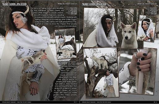 Strange Beauty Magazine winter wolf JPHii