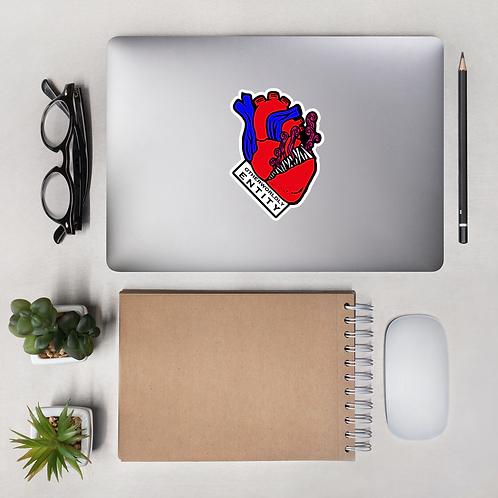 Magenta Heart Sticker