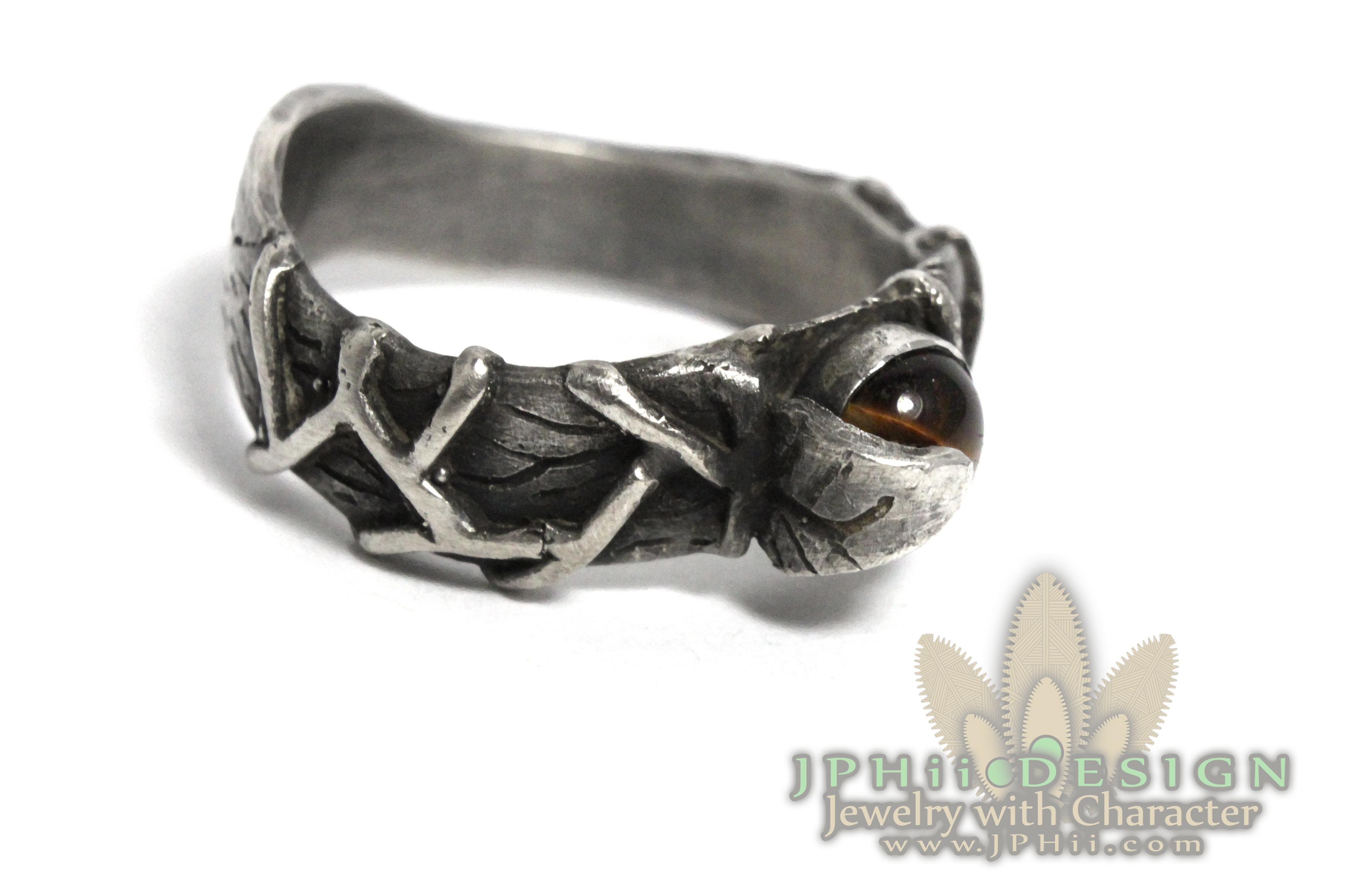 Tiger's Eye Vine Ring