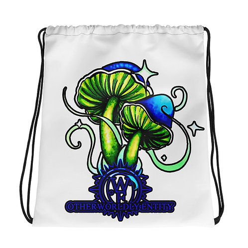 Otherworldly Mushroom Drawstring bag