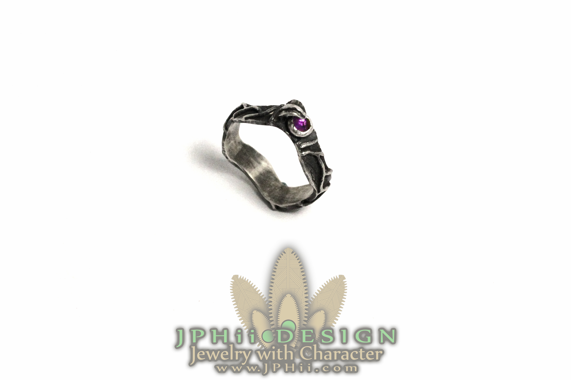 Purple Dark Vine Ring