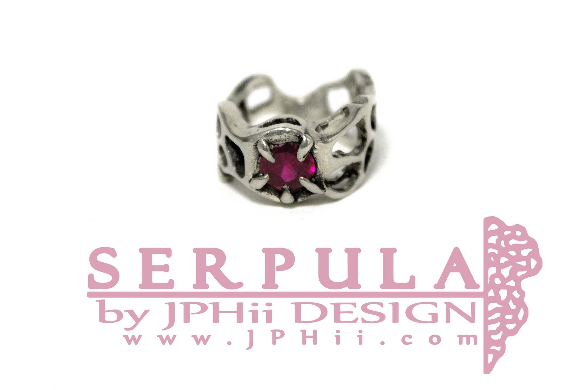 Ruby Serpula Ring