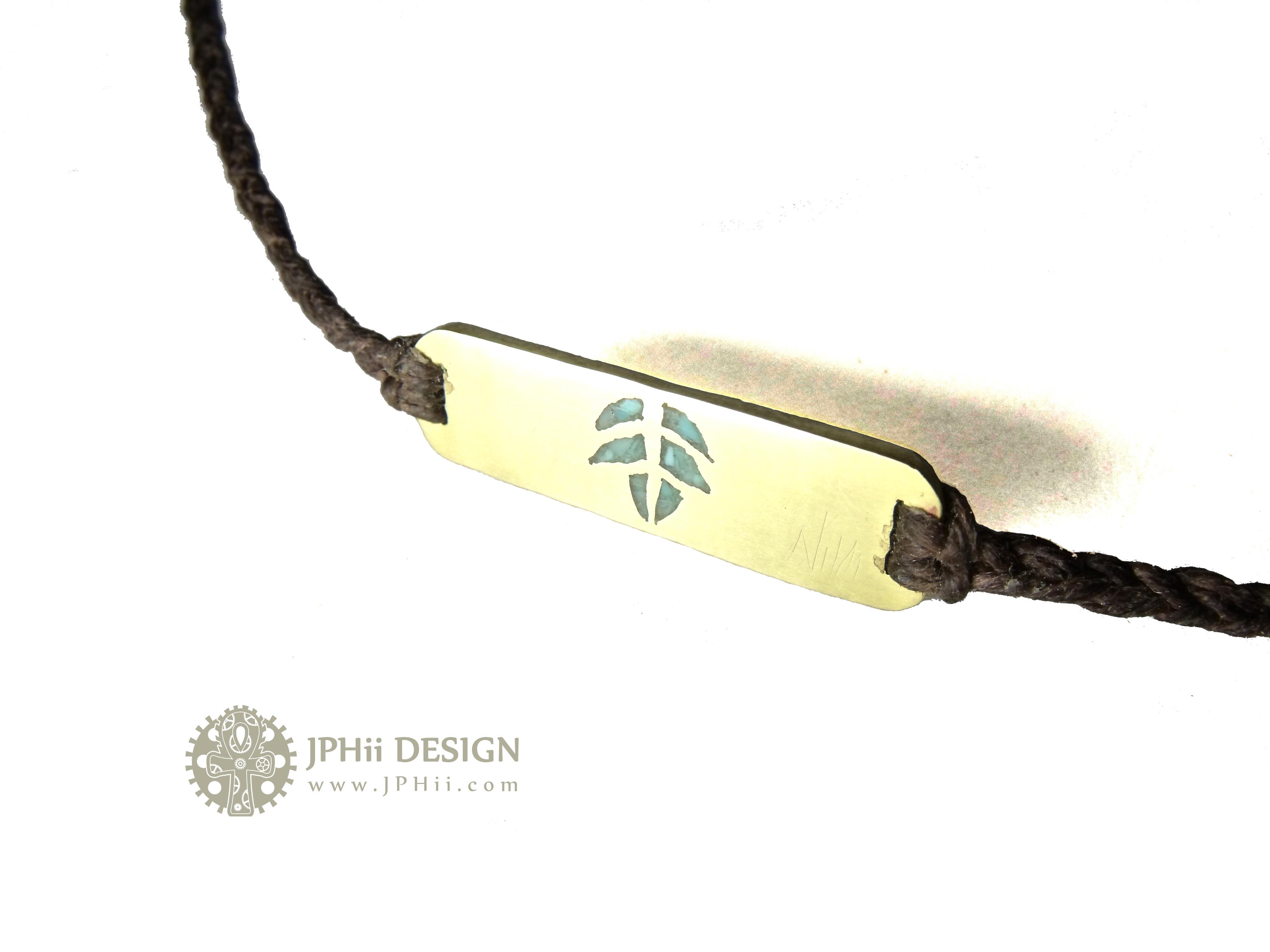 Leaf Inlay Bracelet