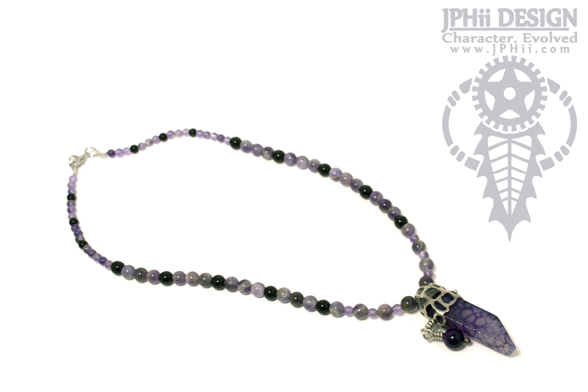 Purple Serpula Necklace