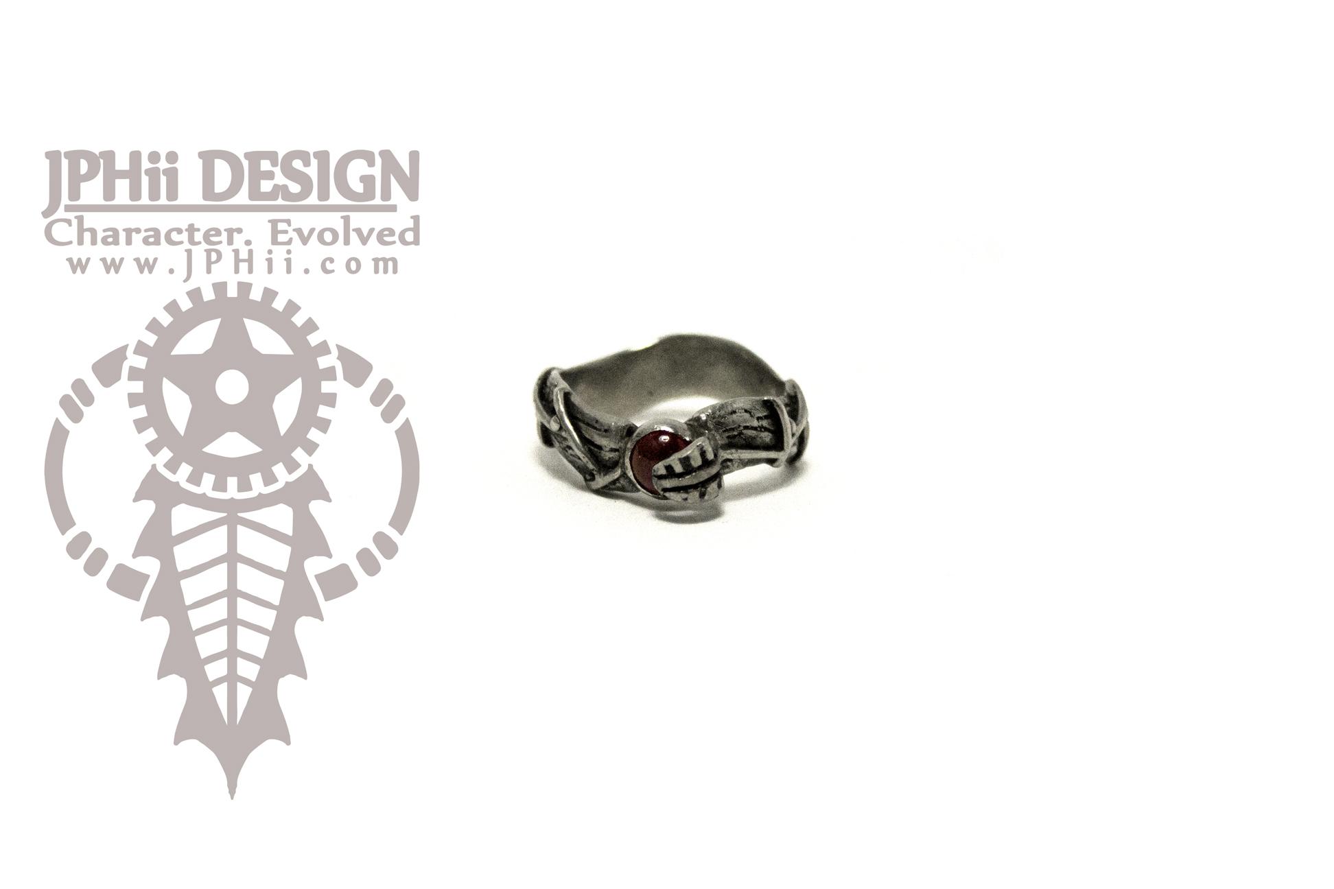 Garnet Vine Ring