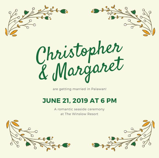 Yellow and Green Botanical Wedding Invit