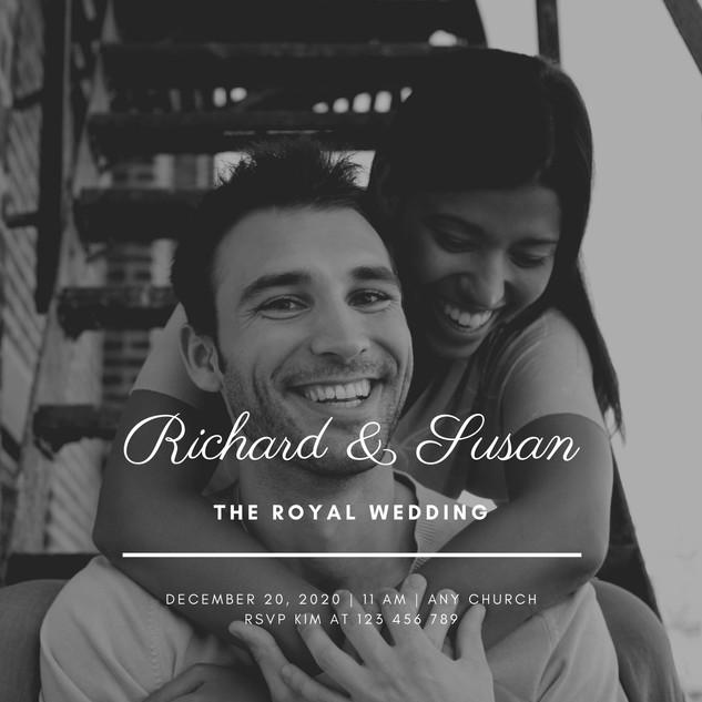 Greyscale Photo Elegant Royal Wedding In