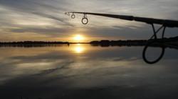 Sunset carp lake