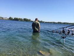 Scenic lake carp