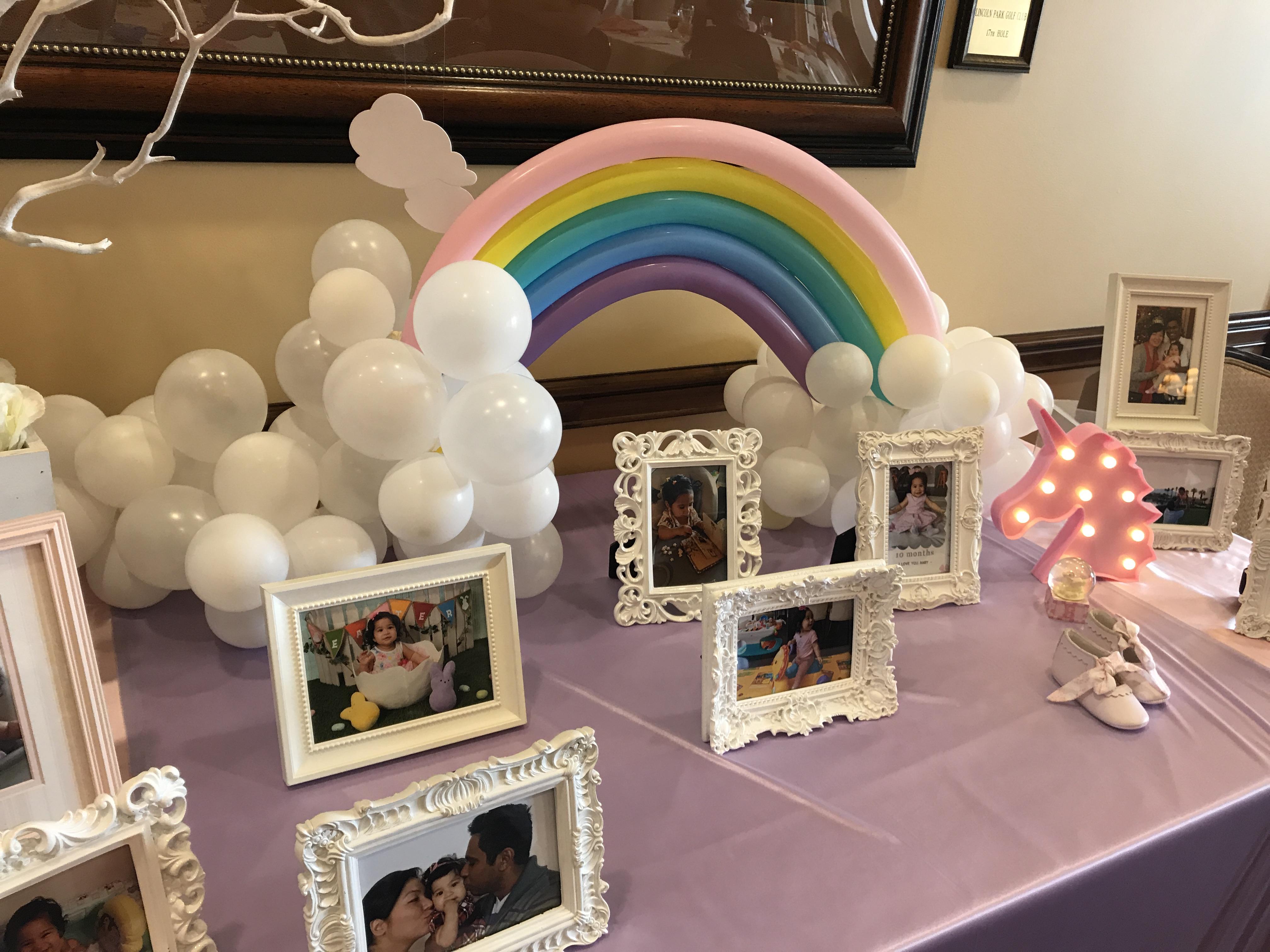 Photo Table Rainbow/Unicorn