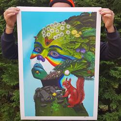 Daughter of Nature Print