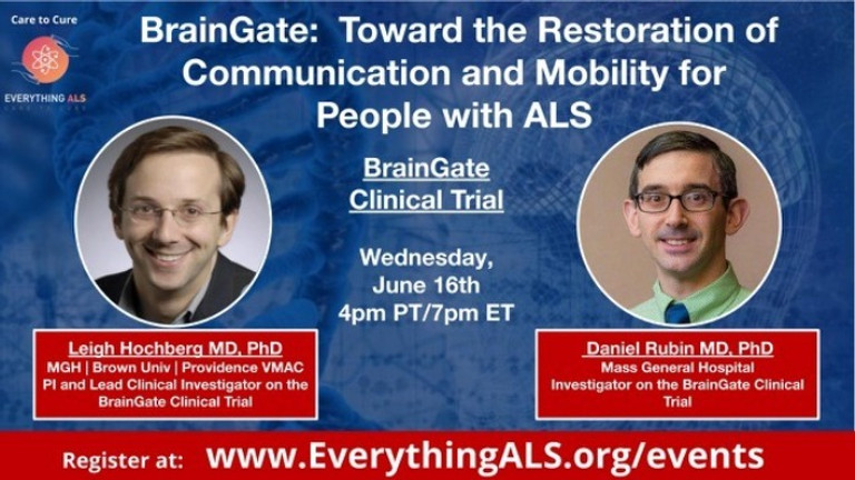 BrainGate: Toward the restoration of communication and mobility for people with ALS