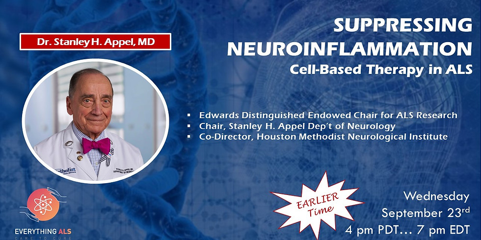 Suppressing Neuroinflammation: Cell-Based Therapy in ALS