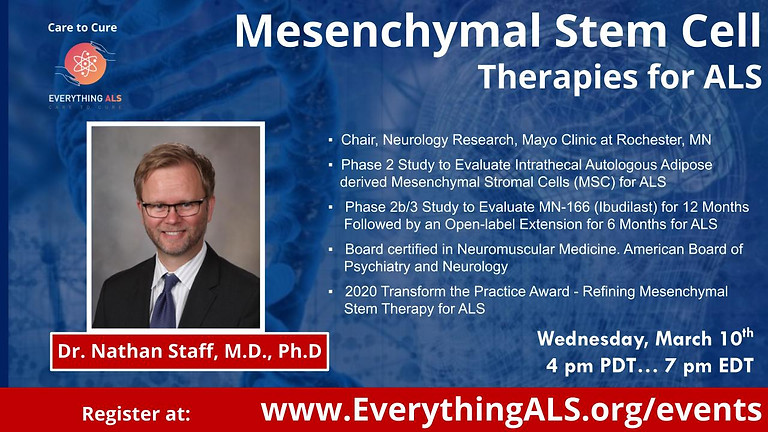 Mesenchymal Stem Cell Therapies for ALS