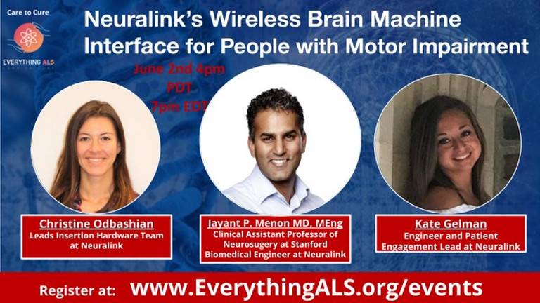 Neuralink's Wireless Brain Machine Interface for People with Motor Impairment