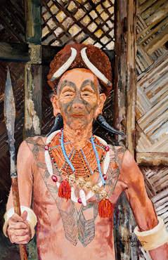 The Konyak Naga Headhunting warrior