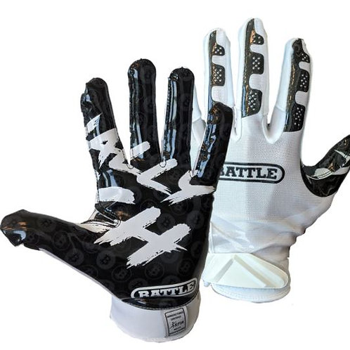 "Battle ""Finally Rich"" Football Receiver Gloves- Adult"