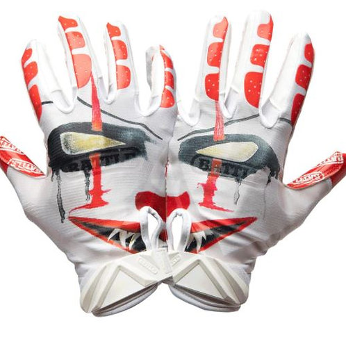 "Battle ""Clown"" Football Gloves"