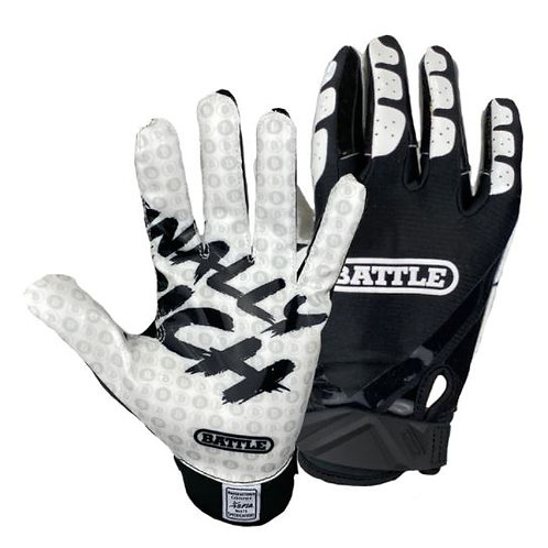 "Battle ""Finally Rich"" Football Receiver Gloves- Youth"